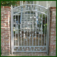 Wrought Iron Gate Courtyard